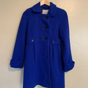 Old Navy | Royal Blue Double Breasted Coat | XS